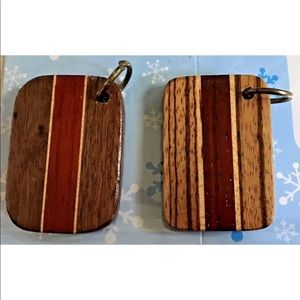Handmade by Crafts Person Accessories - New Craft Wood Keychain Handmade  Men or Women